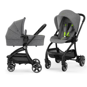 kiddy evostar light 1 con capazo grey melange