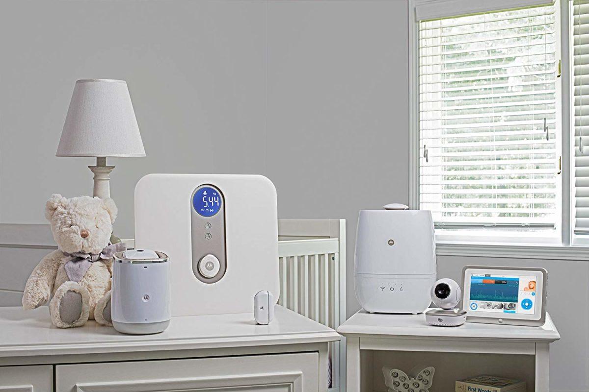 humidificador purificador inteligente bebe motorola smart nursery